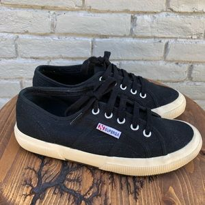 Superga Black Canvas Cotu Sneakers sz 6